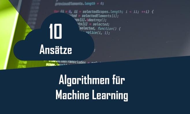 Machinelles Lernen Algorithmen